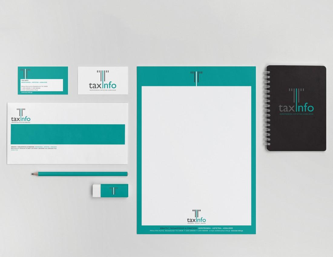 TaxInfo Logo Brand Identity